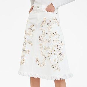 Zara western embroidery skirt NWT